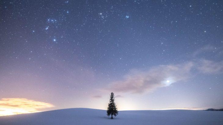 【冬の絶景スポット】北海道の冬景色と星空【星景】